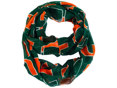 Miami Hurricanes All Over Logo Infinity Wrap Scarf