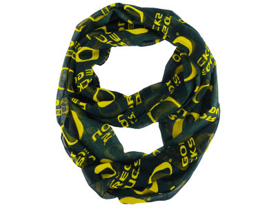 Oregon Ducks All Over Logo Infinity Wrap Scarf