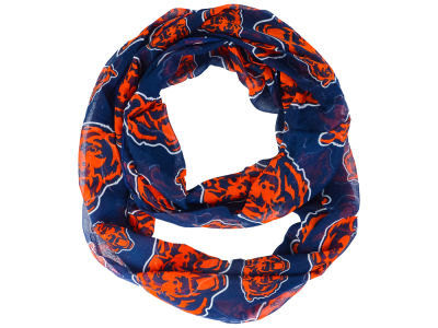 Chicago Bears All Over Logo Infinity Wrap Scarf