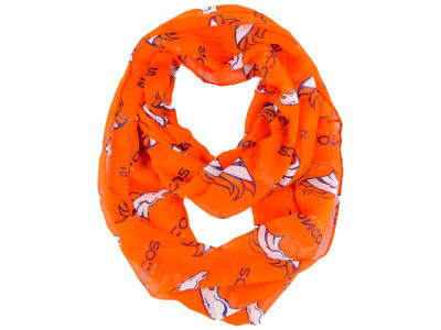 Denver Broncos All Over Logo Infinity Wrap Scarf
