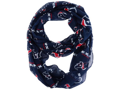 Houston Texans All Over Logo Infinity Wrap Scarf