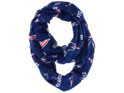 New England Patriots All Over Logo Infinity Wrap Scarf