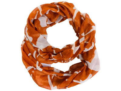 Texas Longhorns All Over Logo Infinity Wrap Scarf