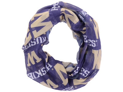 Washington Huskies All Over Logo Infinity Wrap Scarf