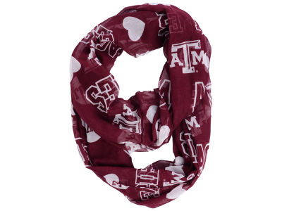 Texas A&M Aggies All Over Logo Infinity Wrap Scarf
