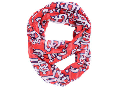 St. Louis Cardinals All Over Logo Infinity Wrap Scarf