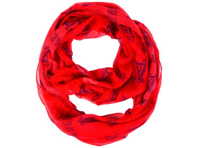 Los Angeles Angels All Over Logo Infinity Wrap Scarf