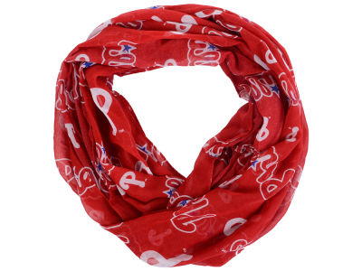 Philadelphia Phillies All Over Logo Infinity Wrap Scarf