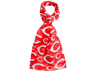 Cincinnati Reds All Over Logo Infinity Wrap Scarf