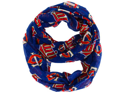 Minnesota Twins All Over Logo Infinity Wrap Scarf