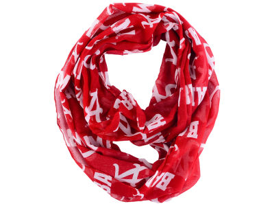 Alabama Crimson Tide All Over Logo Infinity Wrap Scarf