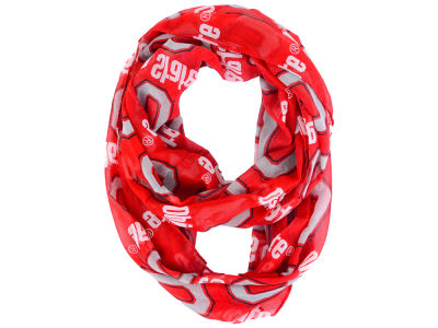 Forever Collectibles All Over Logo Infinity Wrap Scarf