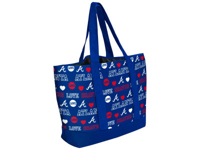 Atlanta Braves Love Print Weekend Tote
