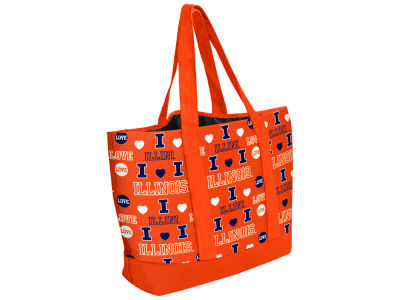 Illinois Fighting Illini Love Print Weekend Tote