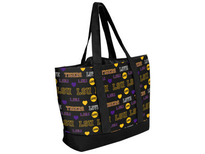 LSU Tigers Love Print Weekend Tote