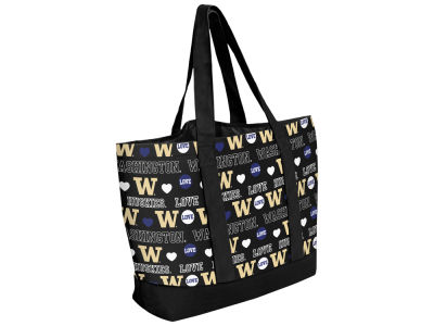 Washington Huskies Love Print Weekend Tote