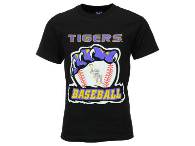 LSU Tigers Blue 84 NCAA Men's Tiger Claw Baseball T-Shirt