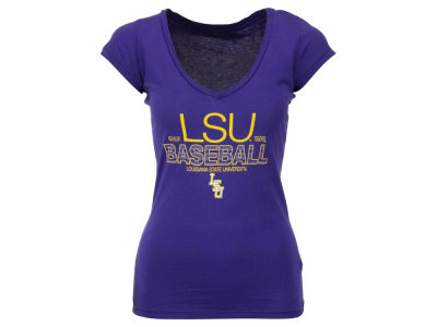 LSU Tigers Blue 84 NCAA Women's Jrs Super Shiny Baseball T-Shirt