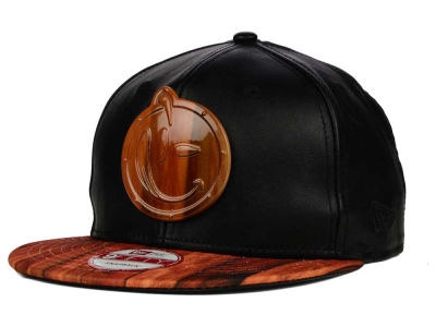 YUMS Leather & Wood Metal Face 9FIFTY Snapback Cap