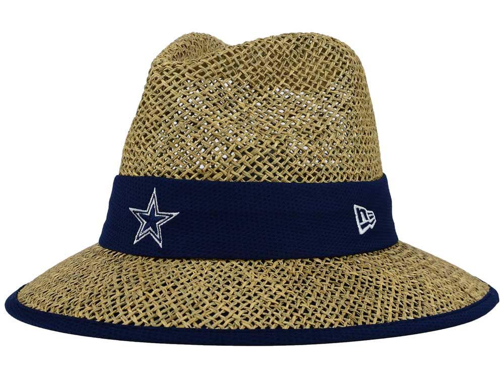Dallas Cowboys New Era NFL 2015 Training Camp Straw Hat  28dd99f5021