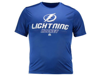 Tampa Bay Lightning Majestic NHL Men's Clearing the Puck Synthetic T-Shirt