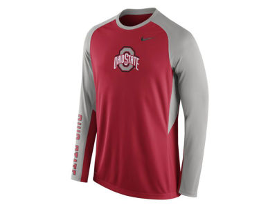 Ohio State Buckeyes Nike NCAA Men's Elite Shootaround Long Sleeve T-Shirt