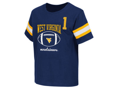 West Virginia Mountaineers NCAA Toddler Pigskin Football T-Shirt