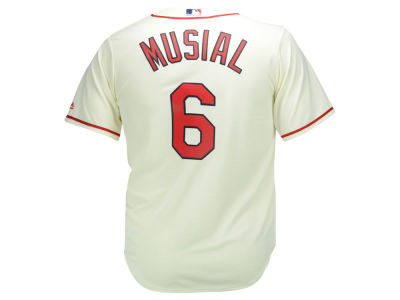 St. Louis Cardinals Stan Musial Majestic MLB Men's Cooperstown Fan Replica Cool Base Jersey