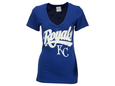 Kansas City Royals Eric Hosmer 5th & Ocean MLB Women's Foil Player V-Neck T-Shirt