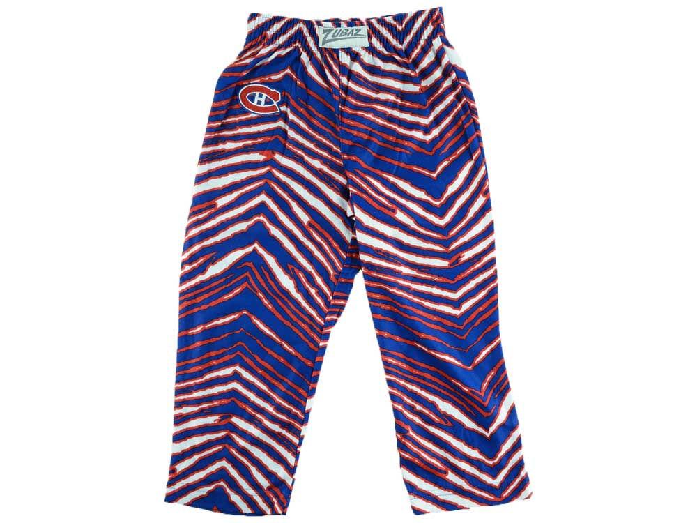 montreal canadiens reebok nhl youth zebra zubaz pajama pants