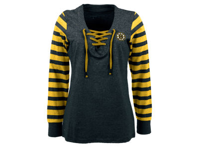 Boston Bruins NHL Women's Rumble Long Sleeve Fleece Sweatshirt