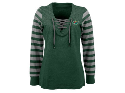 Minnesota Wild NHL Women's Rumble Long Sleeve Fleece Sweatshirt