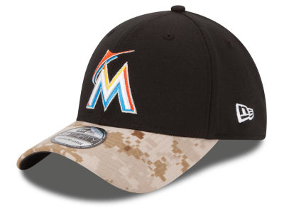 Miami Marlins New Era MLB 2015 Memorial Day 39THIRTY Cap