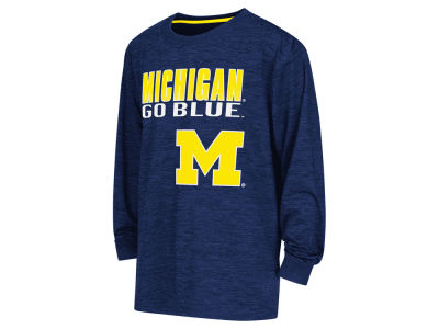 Michigan Wolverines NCAA Youth Cornerback Poly Long Sleeve T-Shirt