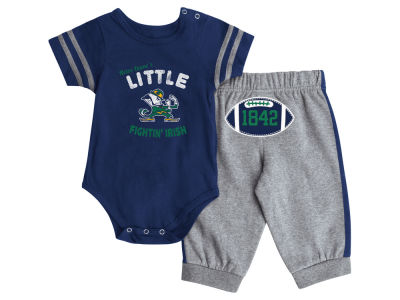 Notre Dame Fighting Irish NCAA Newborn Hut Onesie Pant Outfit