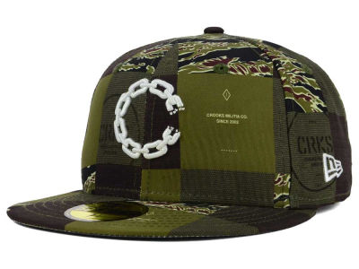 Crooks & Castle Checkered Camo 59FIFTY Cap