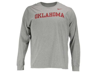 Oklahoma Sooners Nike NCAA Men's Cotton Wordmark Long Sleeve T-Shirt