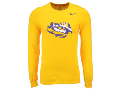 LSU Tigers Nike NCAA Men's Cotton Logo Long Sleeve T-Shirt