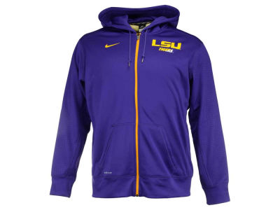LSU Tigers Nike NCAA Men's Sideline KO Full Zip Hoodie