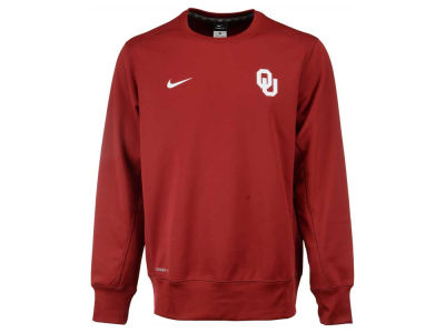 Oklahoma Sooners Nike NCAA Men's Sideline KO Fleece Crew Neck Sweatshirt