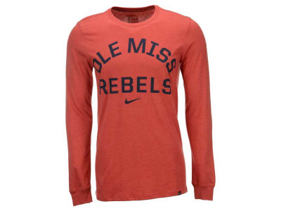 Ole Miss Rebels Nike NCAA Men's Triblend Conviction Long Sleeve T-Shirt