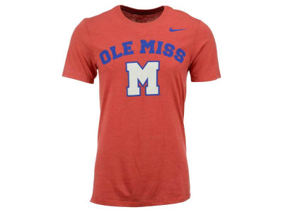 Ole Miss Rebels Nike NCAA Men's Triblend Logo Plus T-Shirt