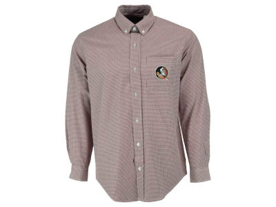 Florida State Seminoles NCAA Men's PM Gingham Woven Button Up Shirt