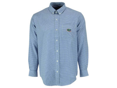 Florida Gators NCAA Men's PM Gingham Woven Button Up Shirt