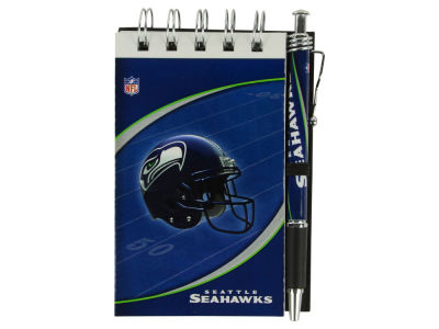 Seattle Seahawks 3x5 Flip Spiral Notebook Pen Set