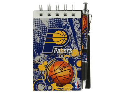 Indiana Pacers 3x5 Flip Spiral Notebook Pen Set
