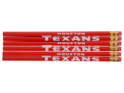 Houston Texans 6-pack Pencils
