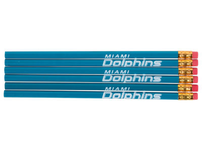 Miami Dolphins 6-pack Pencils