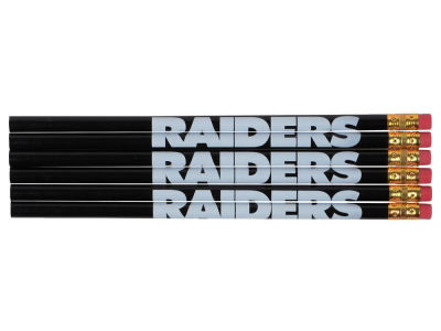 Oakland Raiders 6-pack Pencils
