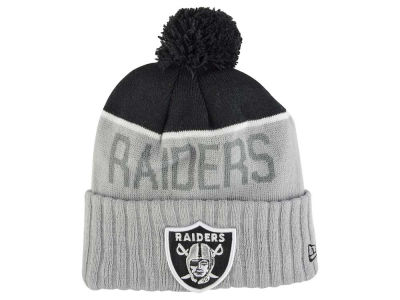 Oakland Raiders New Era NFL 2015 Cold Weather Gray Sport Knit